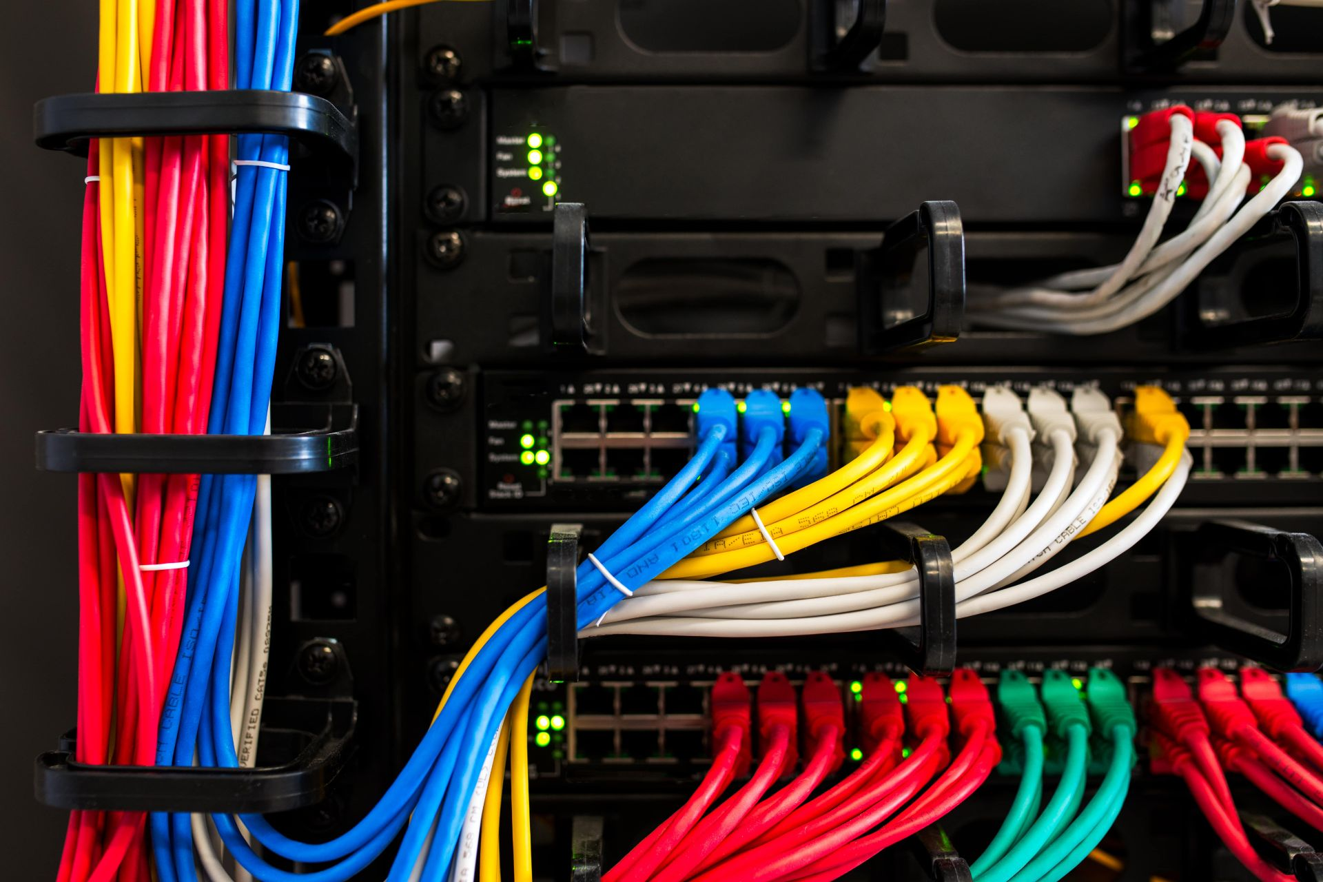 properly installed data cables