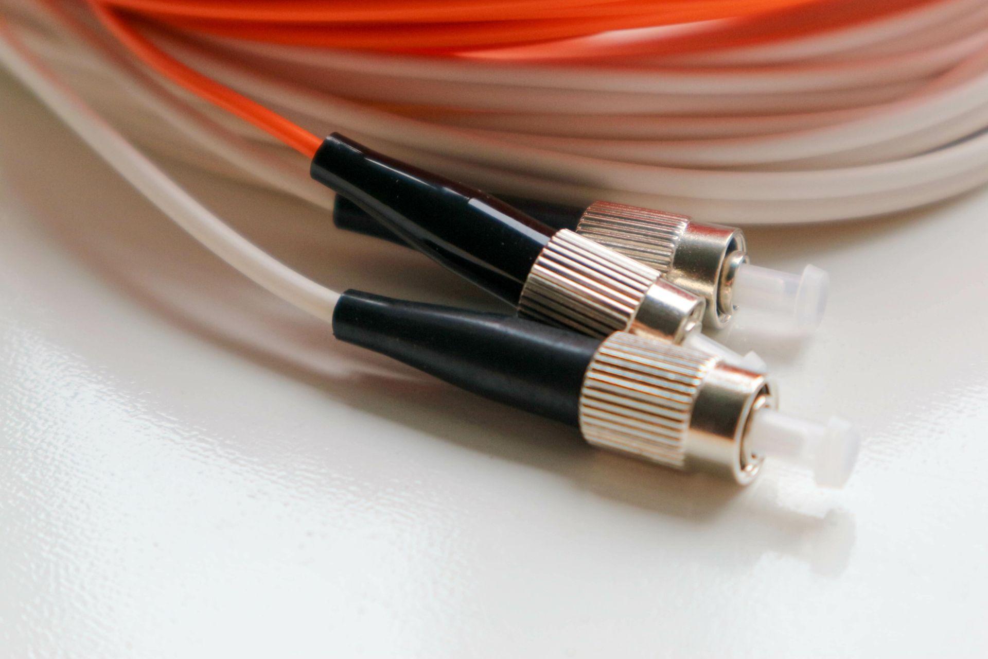 Fiber optic data cabling